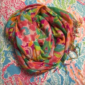 Lilly Pulitzer Multi Lulu Cashmere Scarf